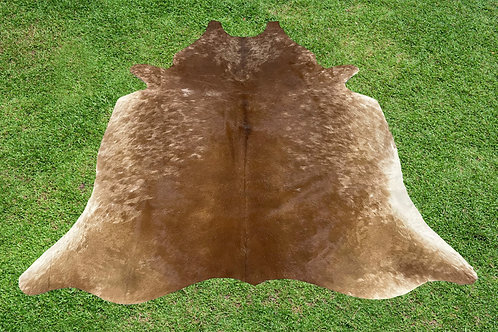 Large Cowhide Rugs Brown Leather Area Rug 5.75 x 5.25 ft