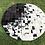 Thumbnail: Cowhide Rugs Round Area Rug Tricolor Southwestern Geometric Custom