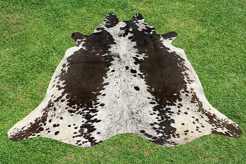 Cowhide Rug Dark Brown Leather Area Rug 5 x 5 ft