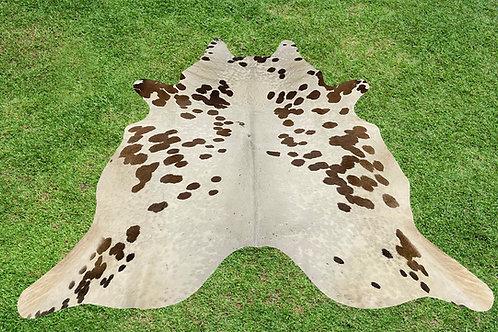 Cowhide Rugs Brown Area Rug5 x 5 ft Medium