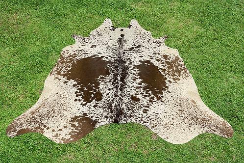 Cowhide Rugs Brown Leather Area Rug 5.25 x 5 ft Medium