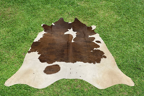 Large Cowhide Rugs Brown Leather Area Rug 6 x 6 ft