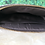 Thumbnail: Dark Brown Cowhide Leather Wristlet Make up Bag Pouch