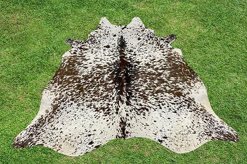 Medium Cowhide Rugs Tricolor Animal Skin Area Rug 5.5 x 5 ft