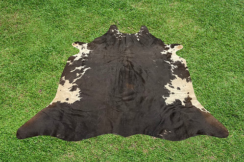 Small Cowhide Rugs Tricolor Animal Skin Area Rug 5 x 4.5 ft