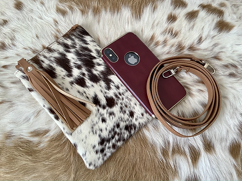 Cowhide Crossbody Purse Phone Wallet Smartphone