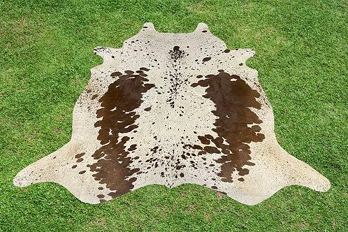 Cowhide Rug Brown Area Rug 5.25 x 5.25 ft Medium