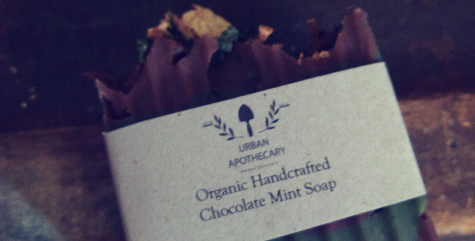 Organic Handcrafted Chocolate Mint Soap