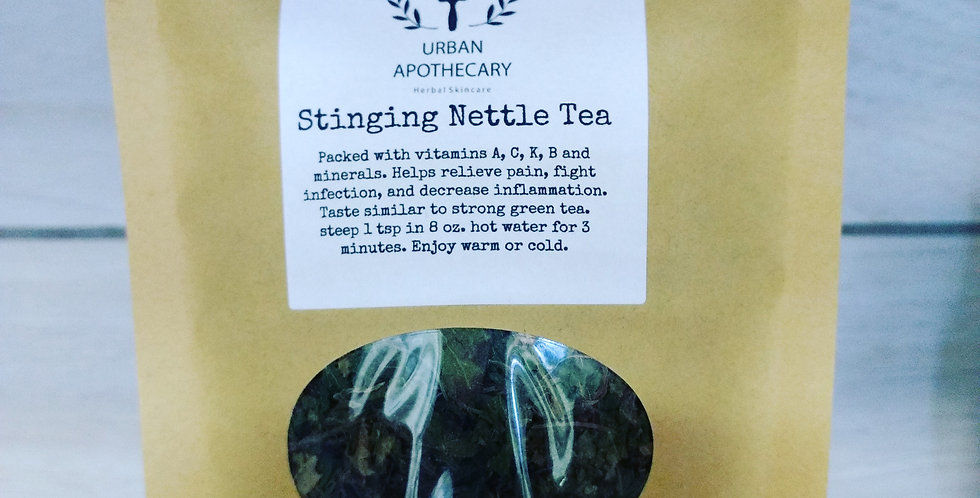 Homegrown Stinging Nettle Tea