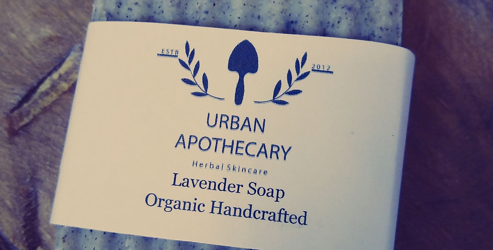 Handcrafted Organic Lavender Soap