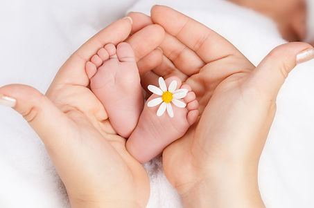 Lovely infant foot with little white dai