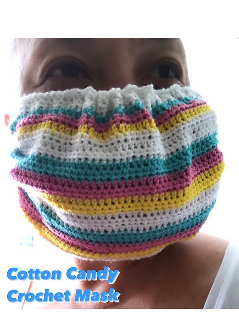 Cotton Candy Crochet Face Mask