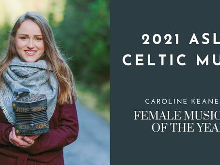 Caroline Keane Female Musician of the Year at the 2021 2021 ASLR Celtic Music!