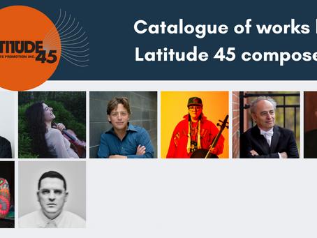 Introducing the Composer Catalogue at latitude45arts.com