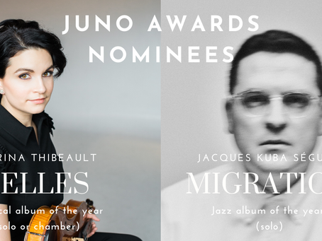 ELLES and Migrations nominated for JUNO awards