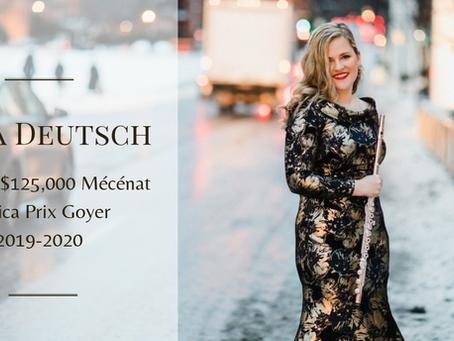 Lara Deutsch wins the $125,000 Mécénat Musica Prix Goyer  2019-2020