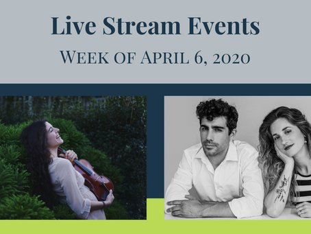Latitude 45 artists are offering livestream performances this week!
