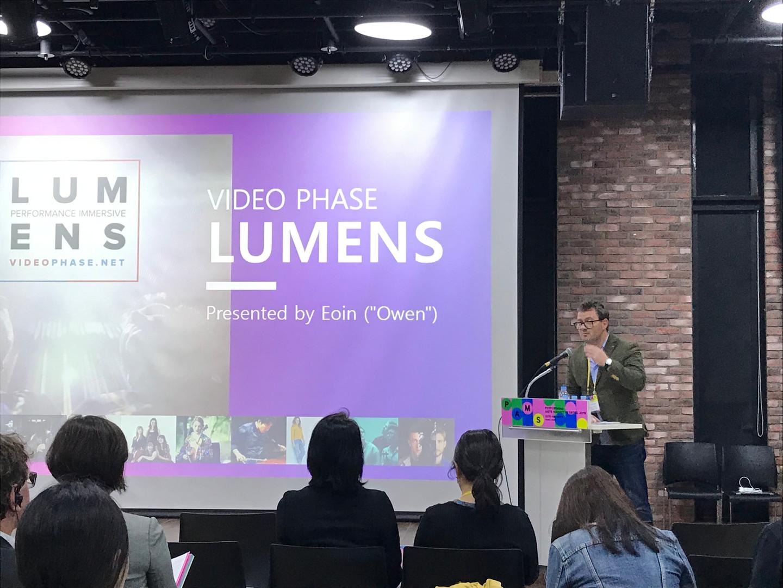Eoin presenting at PAMS 2019