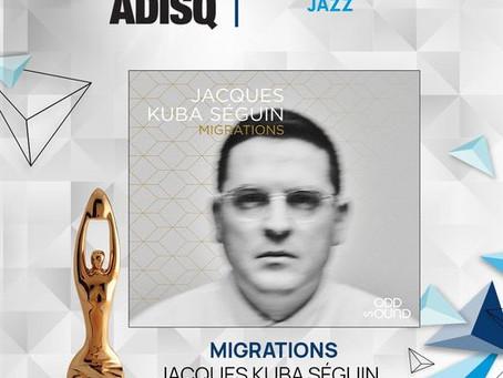 Jacques Kuba Séguin wins at the ADISQ Gala