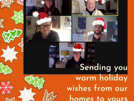 Sending you warm holiday wishes from our homes to yours