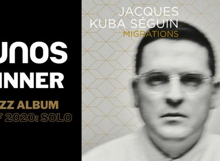 Jacques Kuba Séguin wins a JUNO Award!