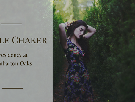 Layale Chaker in residency at Dumbarton Oaks