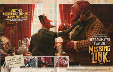 'Missing Link' Best Animated Feature Advertisement