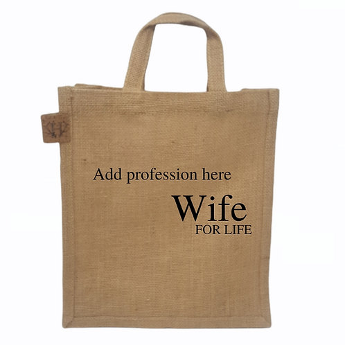 Personalised Wife For Life Bag