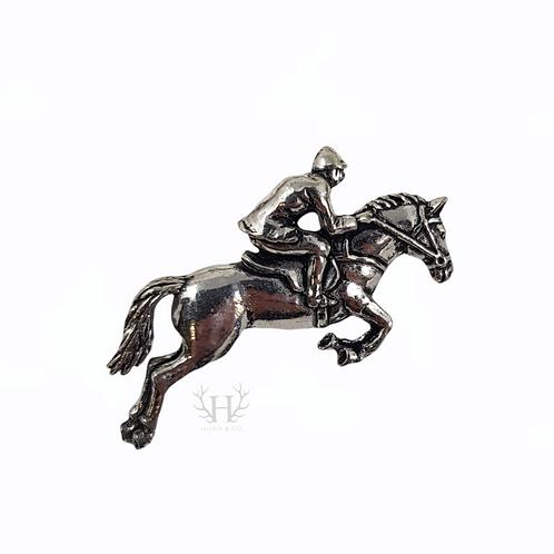 Horse & Rider Tie Pin Brooch