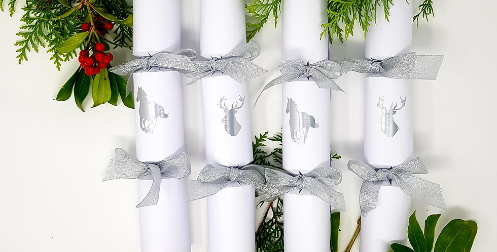 Luxury White Christmas Crackers