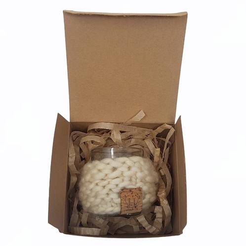 Cream Merino Wool Candle Cuff