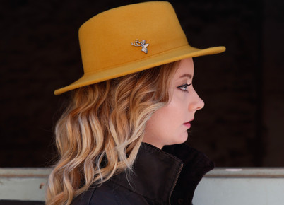 stag pin hat