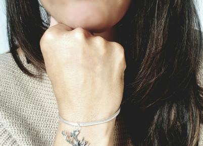 pewter stag bracelet