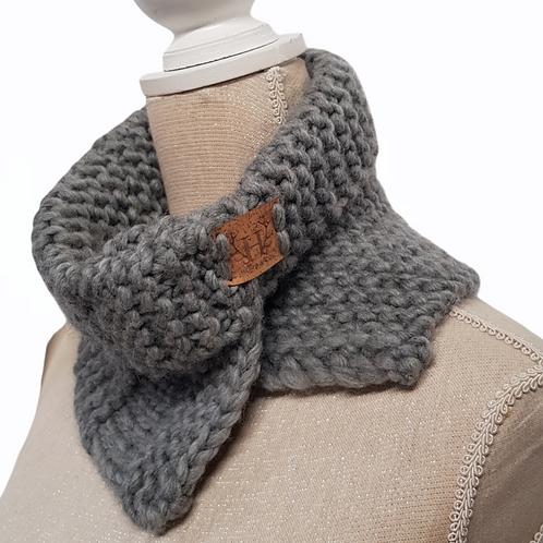 Women's Grey Chunky Wool Scarf