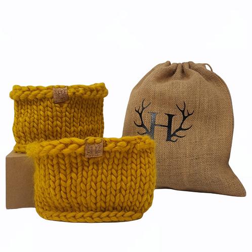 Women's Mustard Merino Boot Toppers