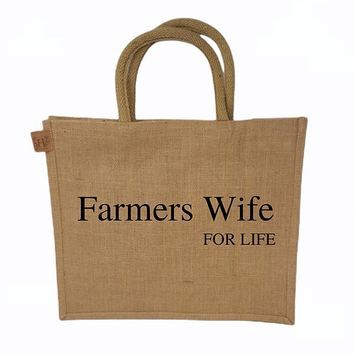 Farmers Wife For Life Shopping Bag