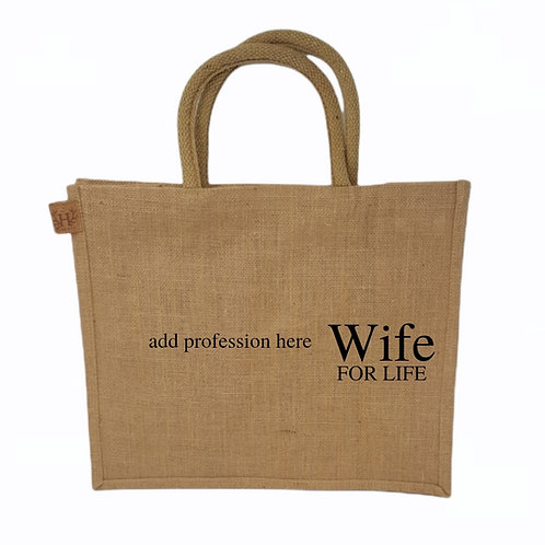 Personalised Wife For Life Shopping Bag