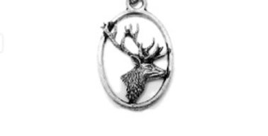 Side on Stag Keychain