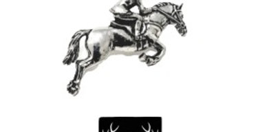 Horse & Rider Brooch/Candle/Tie Pin