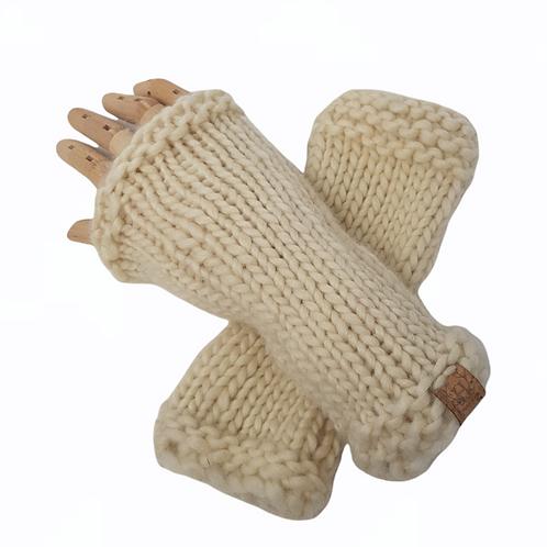 Women's Chunky British Wool Wrist Warmers