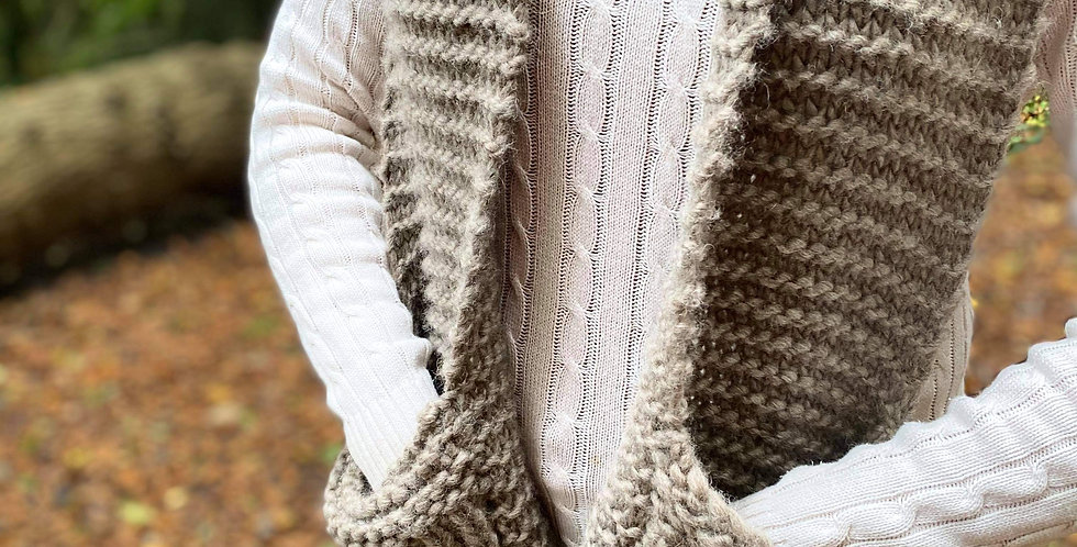Oatmeal Pocket Scarf