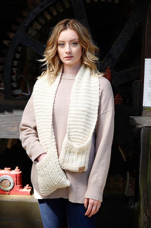 Women's Cream Wool Scarf
