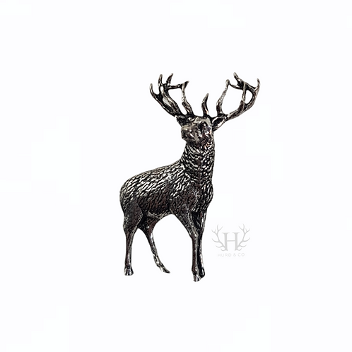 Standing Stag Tie Pin Brooch