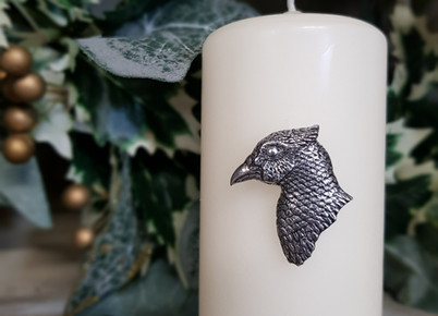 pheasant candle decoration