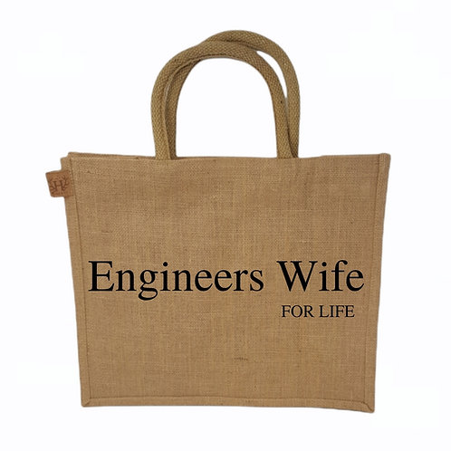 Engineers Wife For Life Shopping Bag