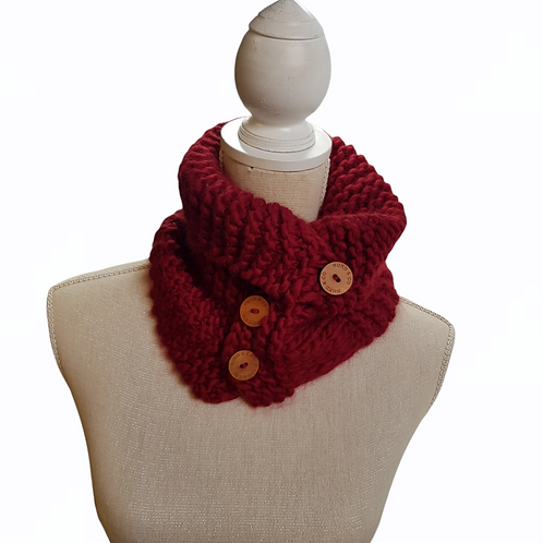 Women's Chunky Red Scarf