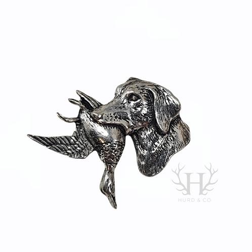 Hunting Labrador Tie Pin Brooch
