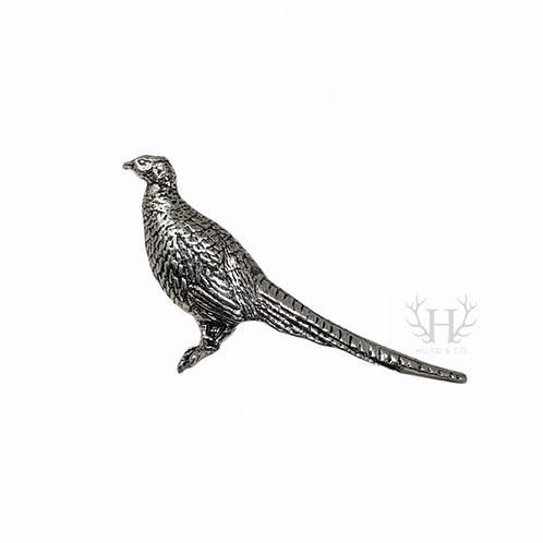 Standing Pheasant Tie Pin Brooch