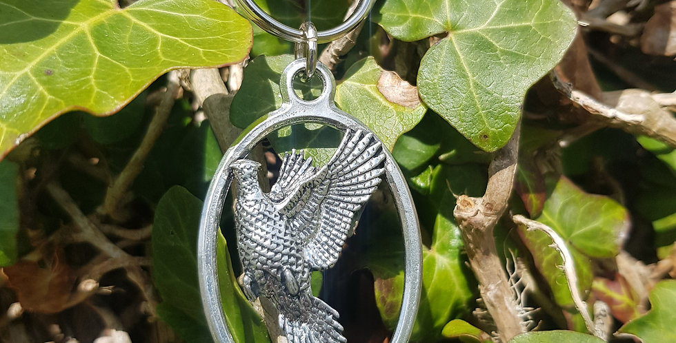 Flying Pheasant Keychain