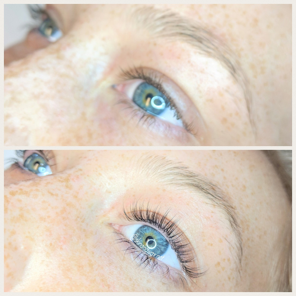 before and after lash lifting
